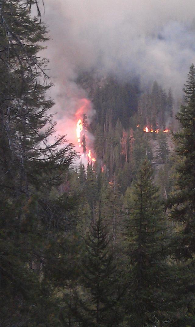 Photo of Klone Fire taken by John Nelson on September 15, 2012 Credit: USDA-Forest Service