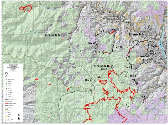 Wenatchee Complex 20120922 Canyons Briefing Map
