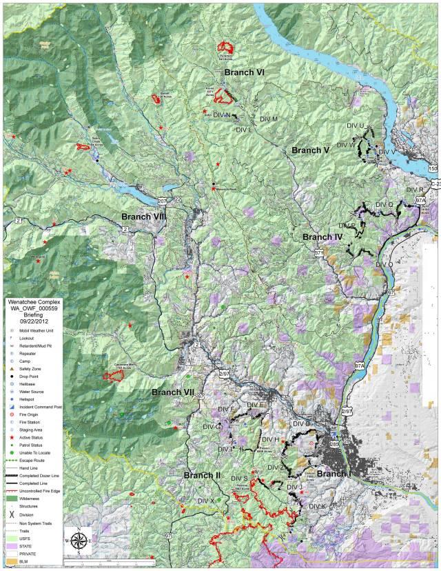 Wenatchee Complex 20120923 Briefing Map