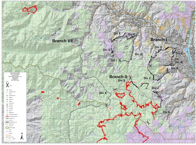 Wenatchee Complex 20120923 Canyons Briefing Map