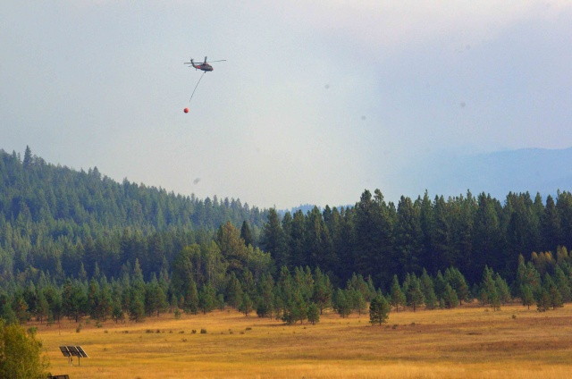 Washington National Guard Helicopter Working in Support of Wenatchee Complex. Photo by Vladimir Steblina Credit: USDA-Forest Service
