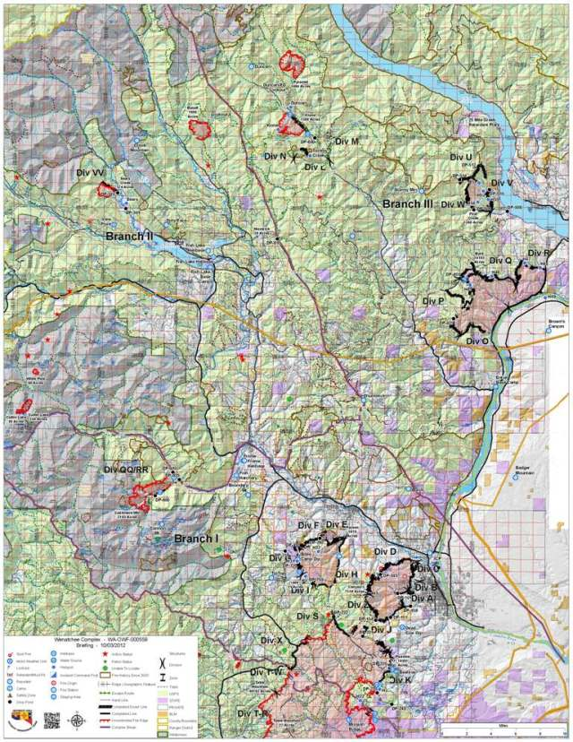 October 3, 2012 Wenatchee Complex Briefing Map